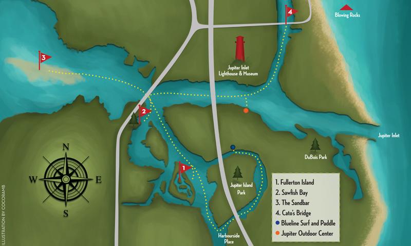 Jupiter Florida Map.Jupiter Inlet District Paddle Fun Naples Illustrated
