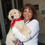 Mary Chaffee with Melton, PAWS Pup