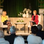 Stacey Deffenbaugh and Jane Pauley on stage