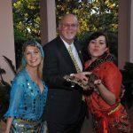 Belly dancer, Jim Wheeler, snake Charmer