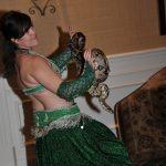 Snake charmer, belly dancer