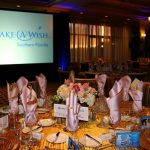 Quail West banquet room set for the Wishmaker's Ball