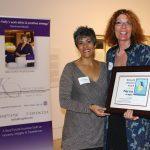 Kelly Capolino presents Diamond Volunteer Award to Rosemarie Kirk