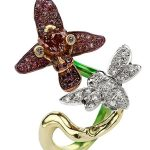 Orchid Bee Ring designed by William Boyajian of Port Royal Jewelers for Guadalupe Center's Fire and Ice