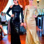 Saks fashion show models in Donna Karan designs