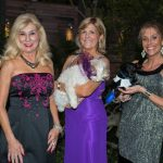 Sandy Cotter, Pamela Price with Sadie, Jennifer O'Dell with Paco