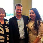 Helen Terry, Mike and Nancy Adams