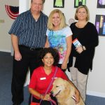 Buzzy Ford, JoNell Modys, Erin Smith, (front) Laura Barsamian with Melton