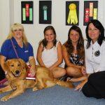 Laurie Wireman, Jenna Stewart, Maiya Baker, Vicki Baker with Cruiser