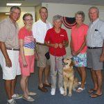 Jack and Marcella Krivacs, Dick and Joan Heddrick, Mary Jane and Chuck Bainbridge with Tex