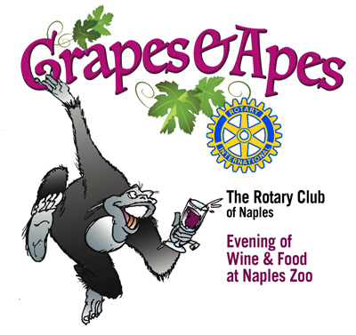 The Rotary Club of Naples annual Grapes & Apes event at the Naples Zoo featured wine, food by Wynn's Market
