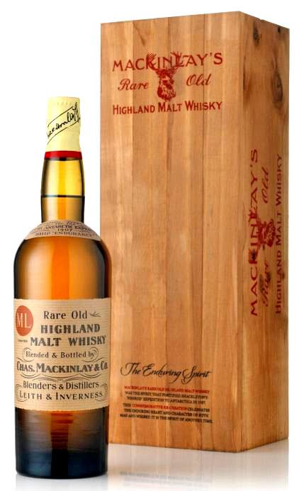 Ernest Shackleton's Scotch: Mackinlay's Rare Old Highland Malt Whiskey