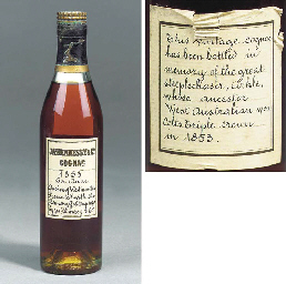 A bottle of 1853 Hennessy