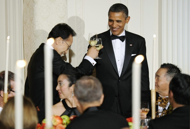 Toast at White House state dinner for Korean President Lee Myung-Bak