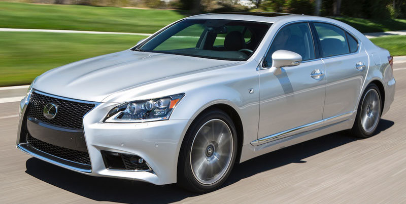 new 2013 Lexus LS flagship - LS 460 F Sport - LS 600h L - new luxury automobile