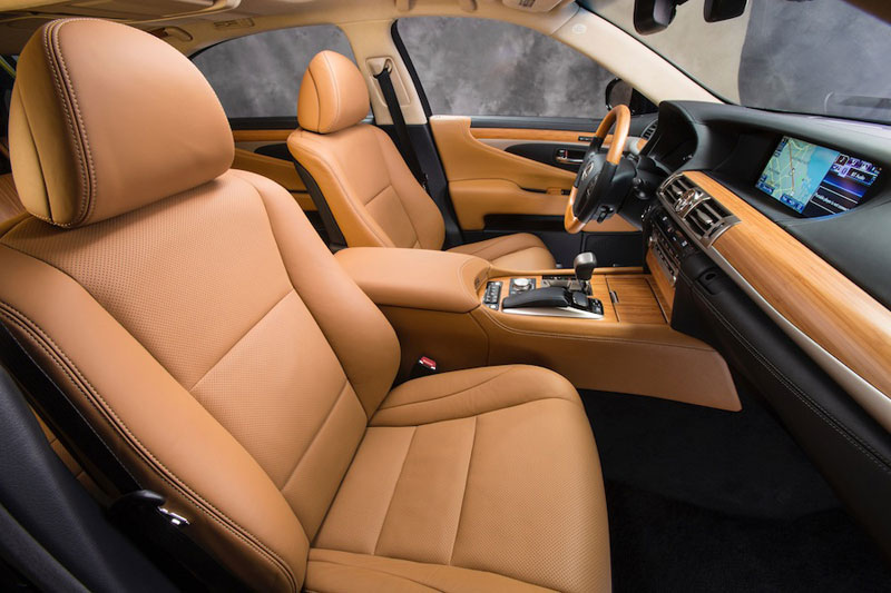 new 2013 Lexus LS 460 - interior upgrade with Shimamoku Espresso wood inlays