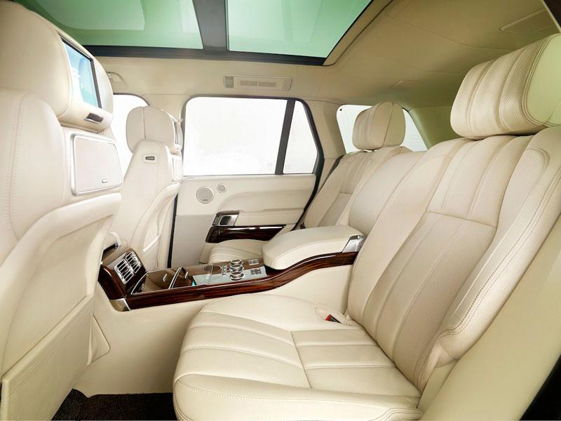 2013 Range Rover - luxury SUV - interior - independent rear seats