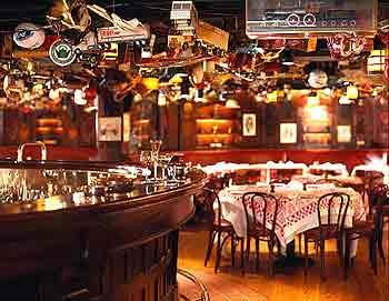 Bar room at Manhattan's 21 Club