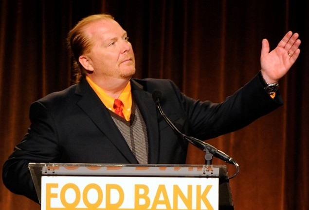 Chef Mario Batali accepts the food stamp challenge