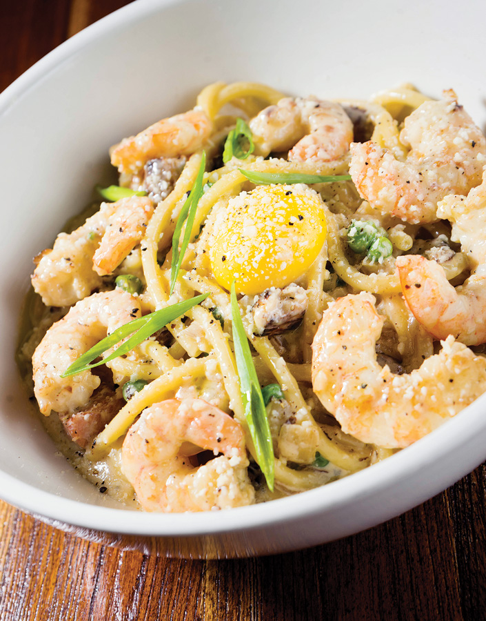 Naples Illustrated's Dining Awards - Best New Restaurant - Chef David Lani - 7th Avenue Social - Fort Myers  Shrimp Carbonara