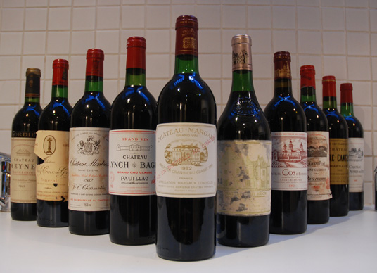 Wines from the 1982 Bordeaux vintage