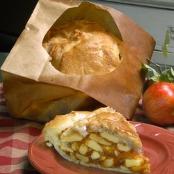 Apple Pie Baked in a Paper Bag at The Elegant Farmer in Wisconsin