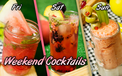 Your Weekend Cocktails for August 3 - summery cocktails - fresh fruits