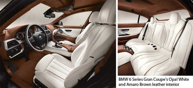 BMW 6 Series Gran Coupe - Opal White and Amaro Brown interior