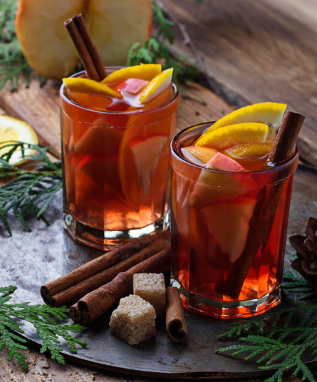 Spiced Simmered Sangria - Beso Del Sol Sangria