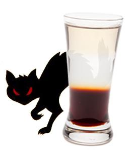 Black Cat shot - Hiram Walker