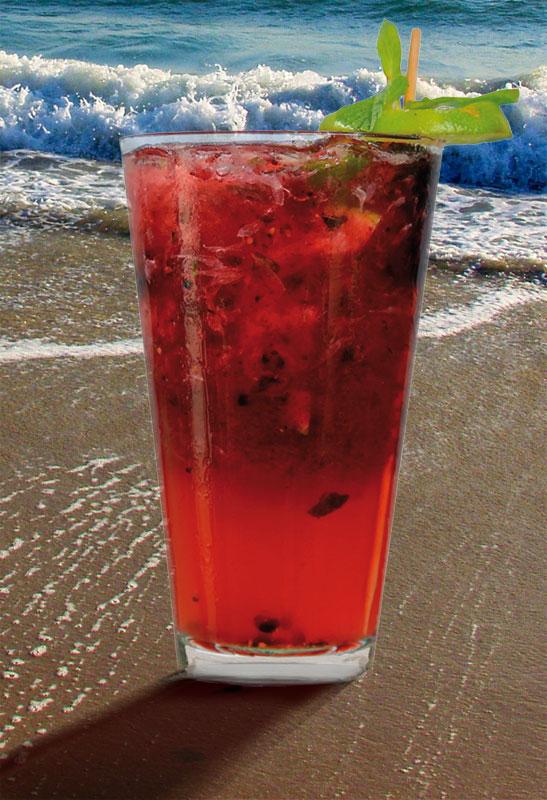Black & Blue mojito - summertime cocktails - Ritz-Carlton South Beach - DIY cocktails