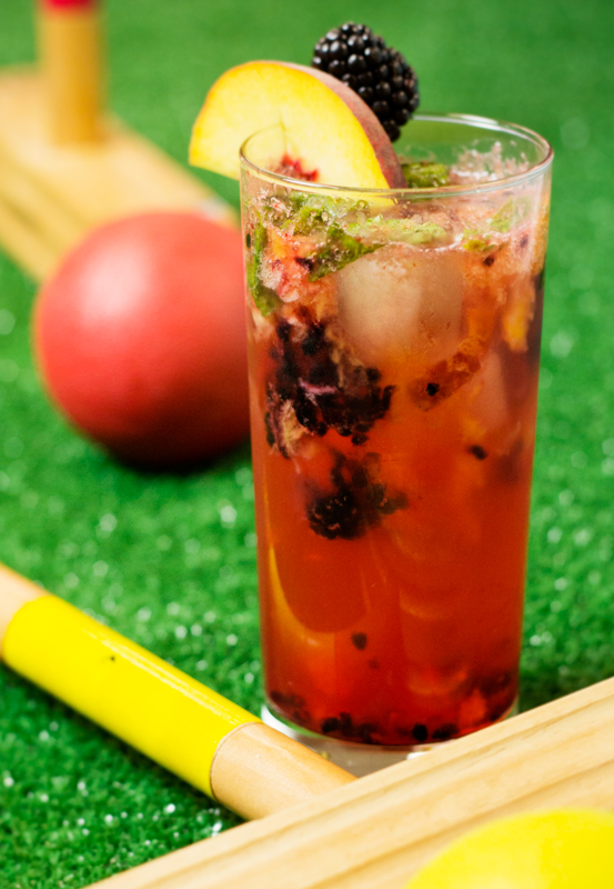 Peach and Blackberry Bourbon Muddler - summer cocktail - fresh fruits
