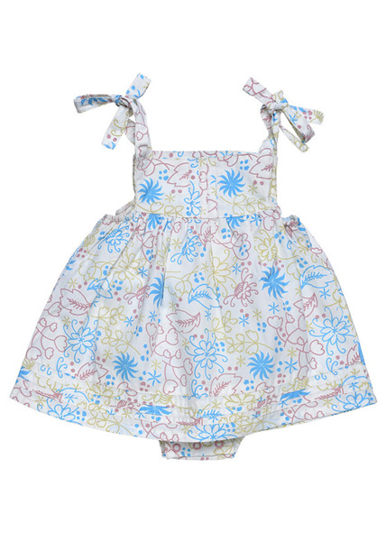 Under the Nile - Organic Cotton Baby Clothes - Bubble Dress with Pintucks