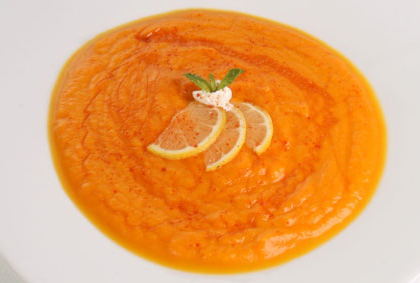 Chilled Florida Wildflower Honey and Carrot Soup