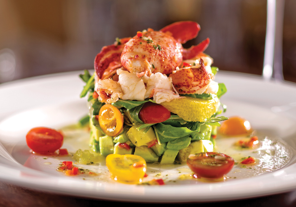 Naples Illustrated's Dining Awards - Best Power Lunch - The Captial Grille -Chilled Maine lobster tossed in citrus vinaigrette over arugula and avocado at The Capital Grille