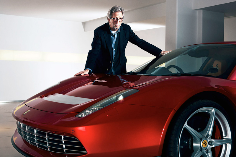 Eric Clapton with his new Ferrari SP12 EC - 458 italia - The Wheel World