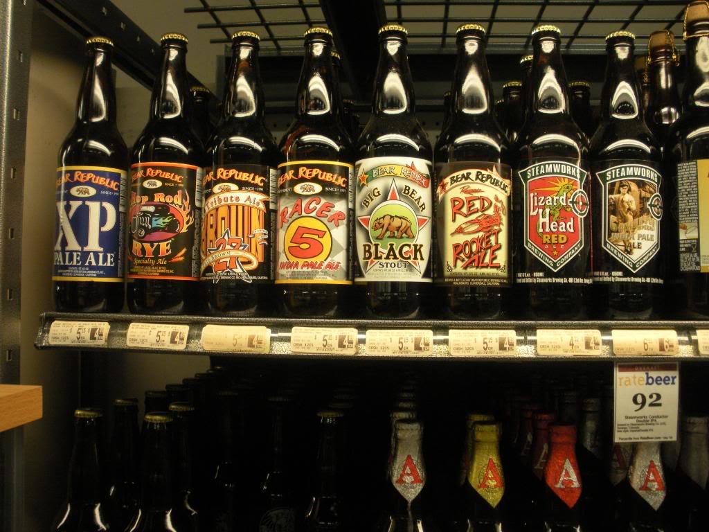 Shelf of craft beers