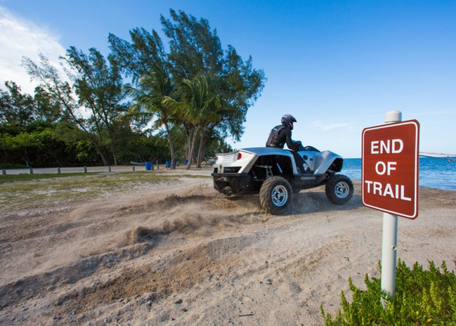 Quadski is not hindered by lack of land or water