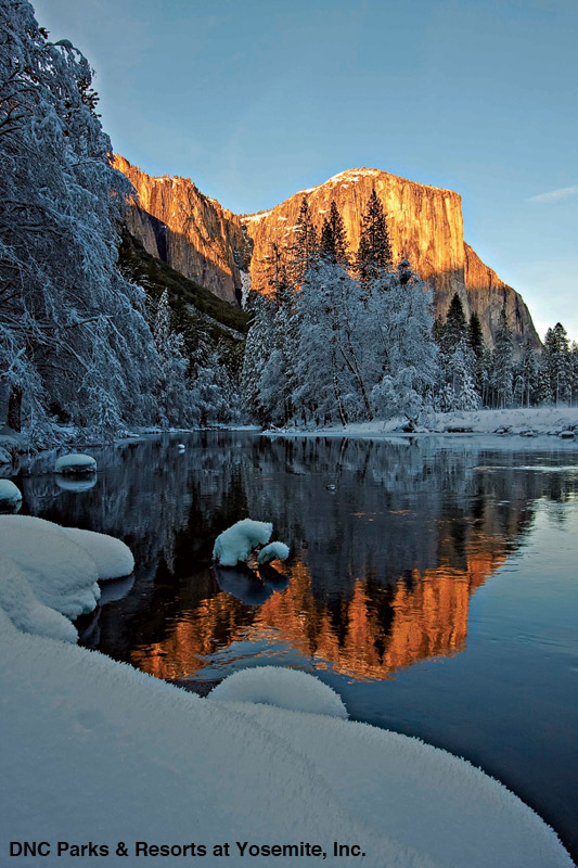 El Capitan in Yosemite National Park - The Ahwahnee Hotel - photo cred: DNC Parks & Resorts at Yosemite