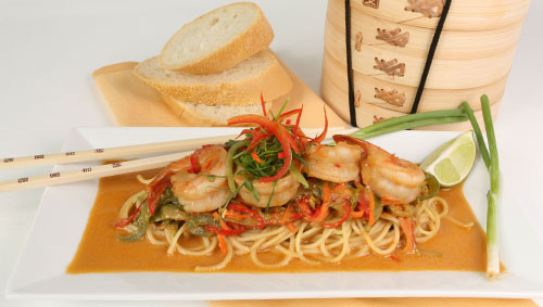 Florida Peanut Noodles with Wild Shrimp - Justin Timineri - Florida Department of Agriculture and Consumer Services