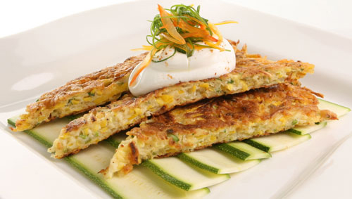 Florida Zucchini and Paremsan Skillet Cakes from Justin Timineri, Florida's Executive Chef
