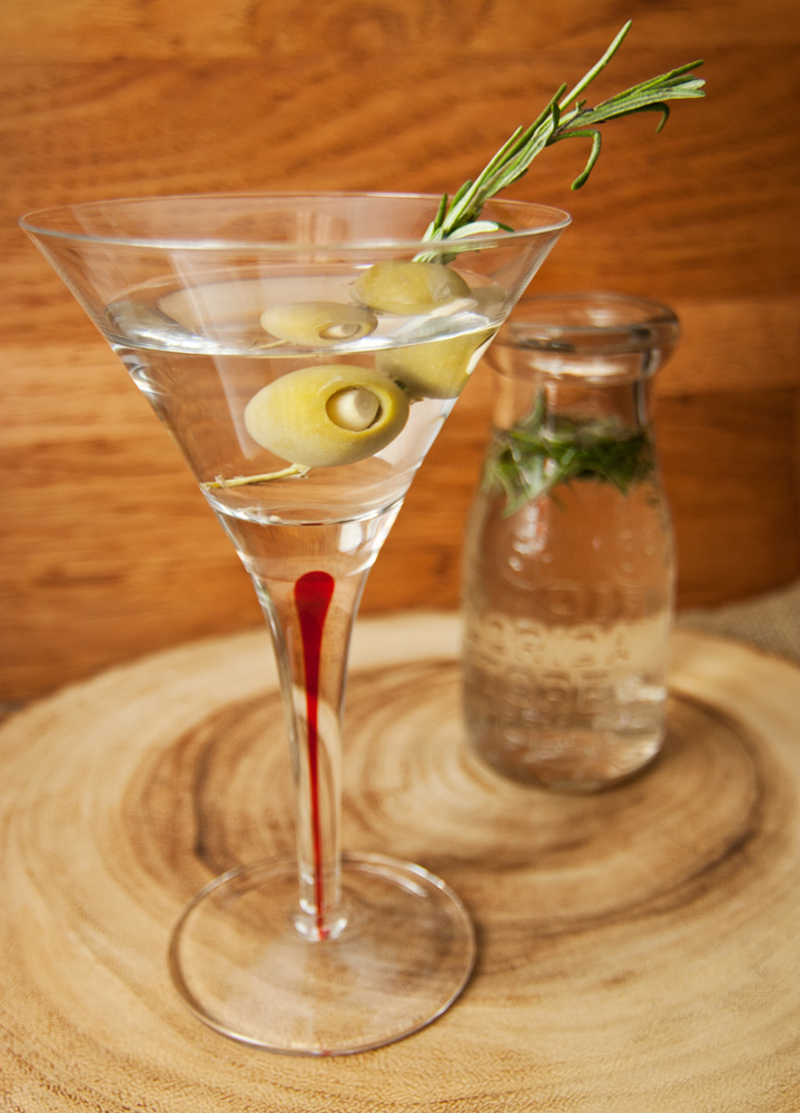 Garlic Rosemary Potato cocktail - Thanksgiving cocktails - rosemary-lavender infused vodka