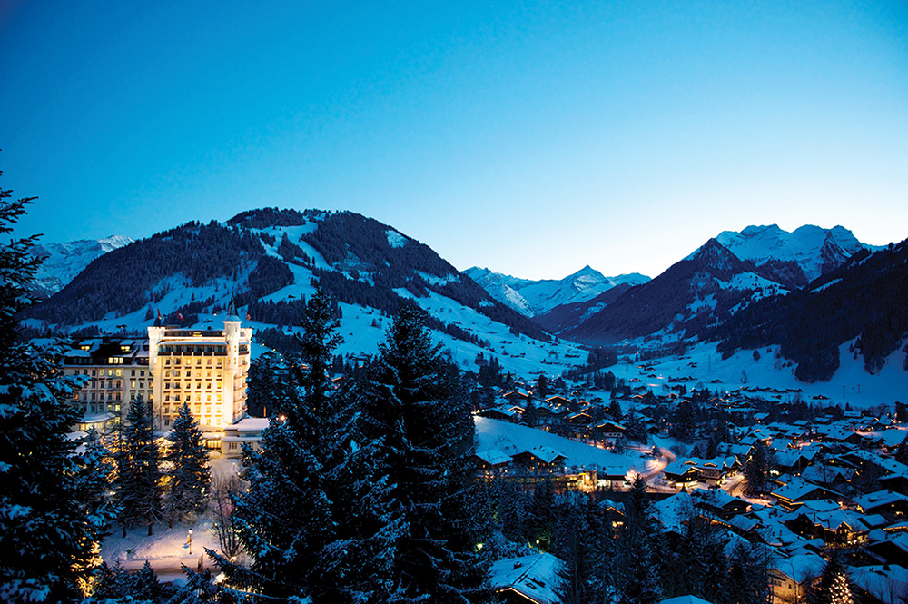 Gstaad Palace in the Swiss Alps.