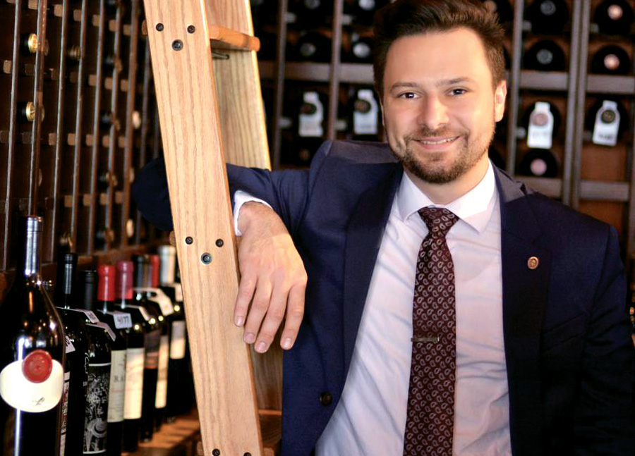 Higor do Valle, sommelier at The Continental - wines for Valentine's Day