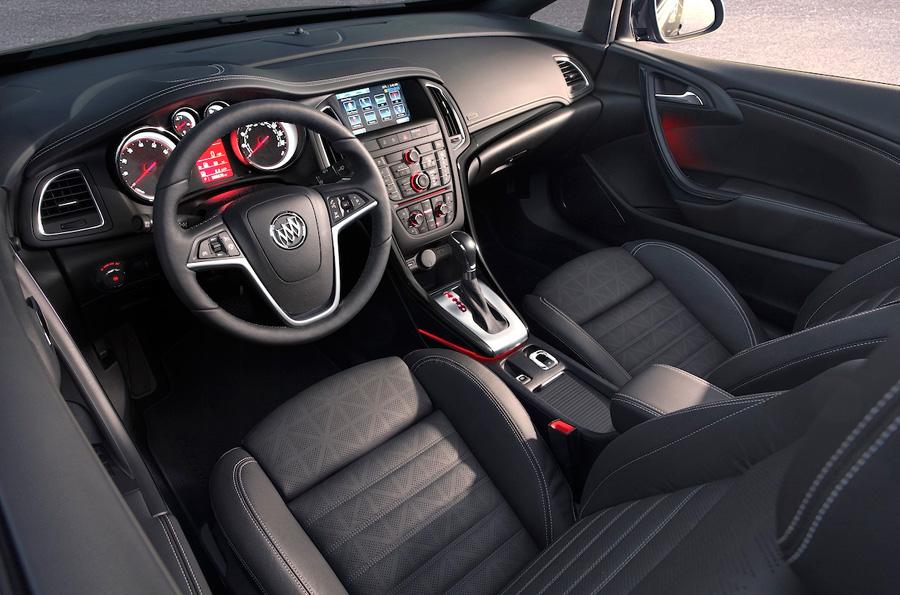 Interior of Buick's new luxury convertible, the Cascada