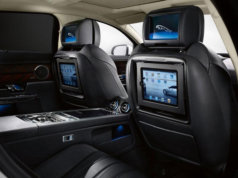 Jaguar XJL Ultimate - rear interior - iPad for passengers