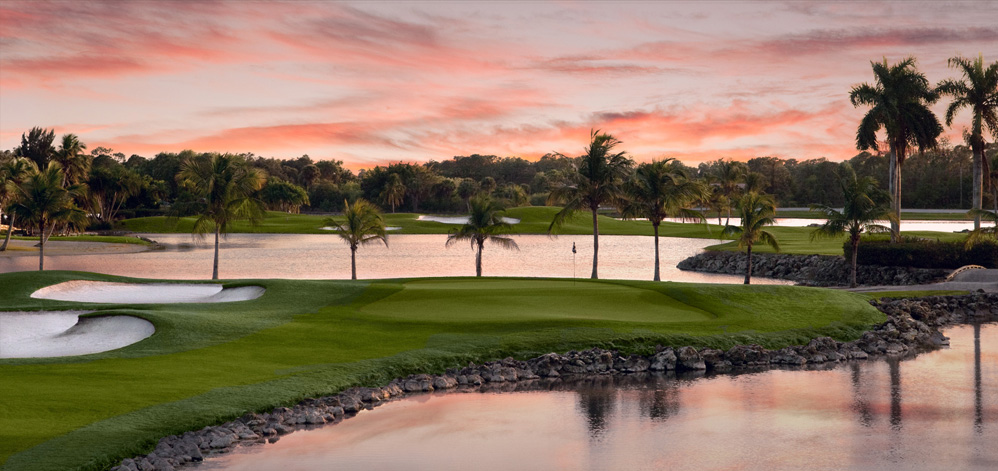The Flamingo Island course at Lely Resort Golf & Country Club