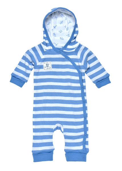Under the Nile - Organic Cotton Baby Clothes - Lined Hooded Romper