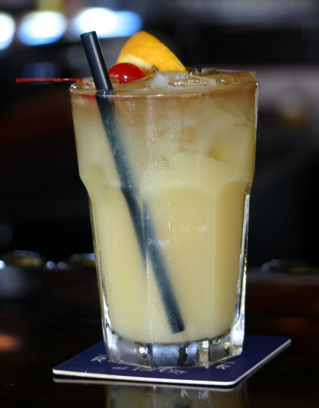 Monkey Business tropical banana cocktail - waterfront seafood restaurant - The Dock at Crayton Cove - Naples City Docks