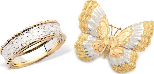 Buccellati - luxury Milanese Jewelry House - ring - butterfly brooch